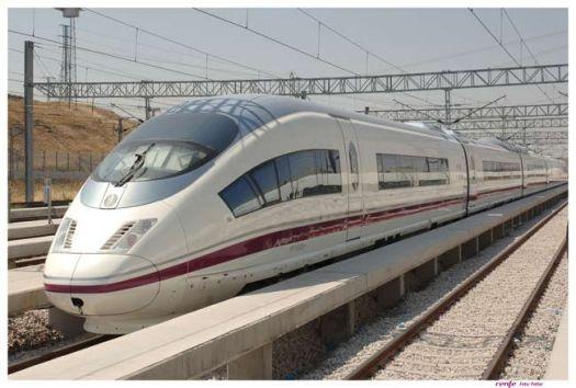 Trem AVE Madrid - Barcelona.Fonte:Renfe