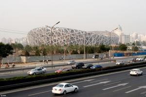 """Estádio """"ninho de pássaro"""". Foto Flicker, album de FHKE"""