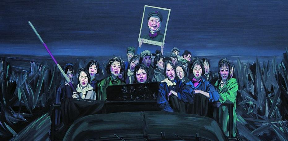 Mao Tsé-Tung numa das telas de Chen Bo