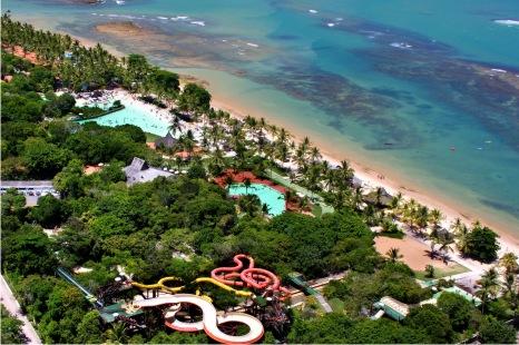 Vista do Parque Aquático do Eco Resort