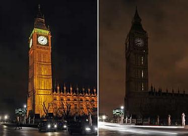 """""""Hora do Planeta"""" em Londres...Foto: Galeria Yahoo, AFP"""
