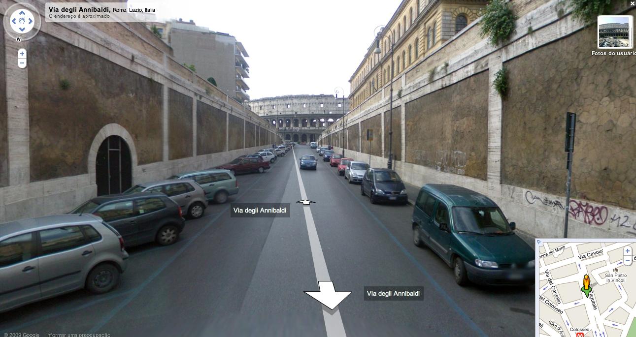 Google Street View Roma Coliseu
