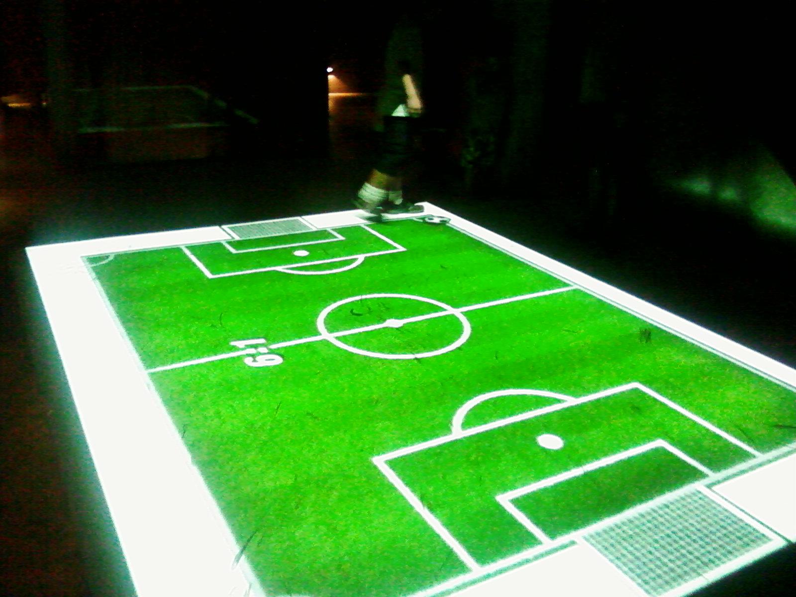 Um campo de futebol virtual - que dá para jogar bola