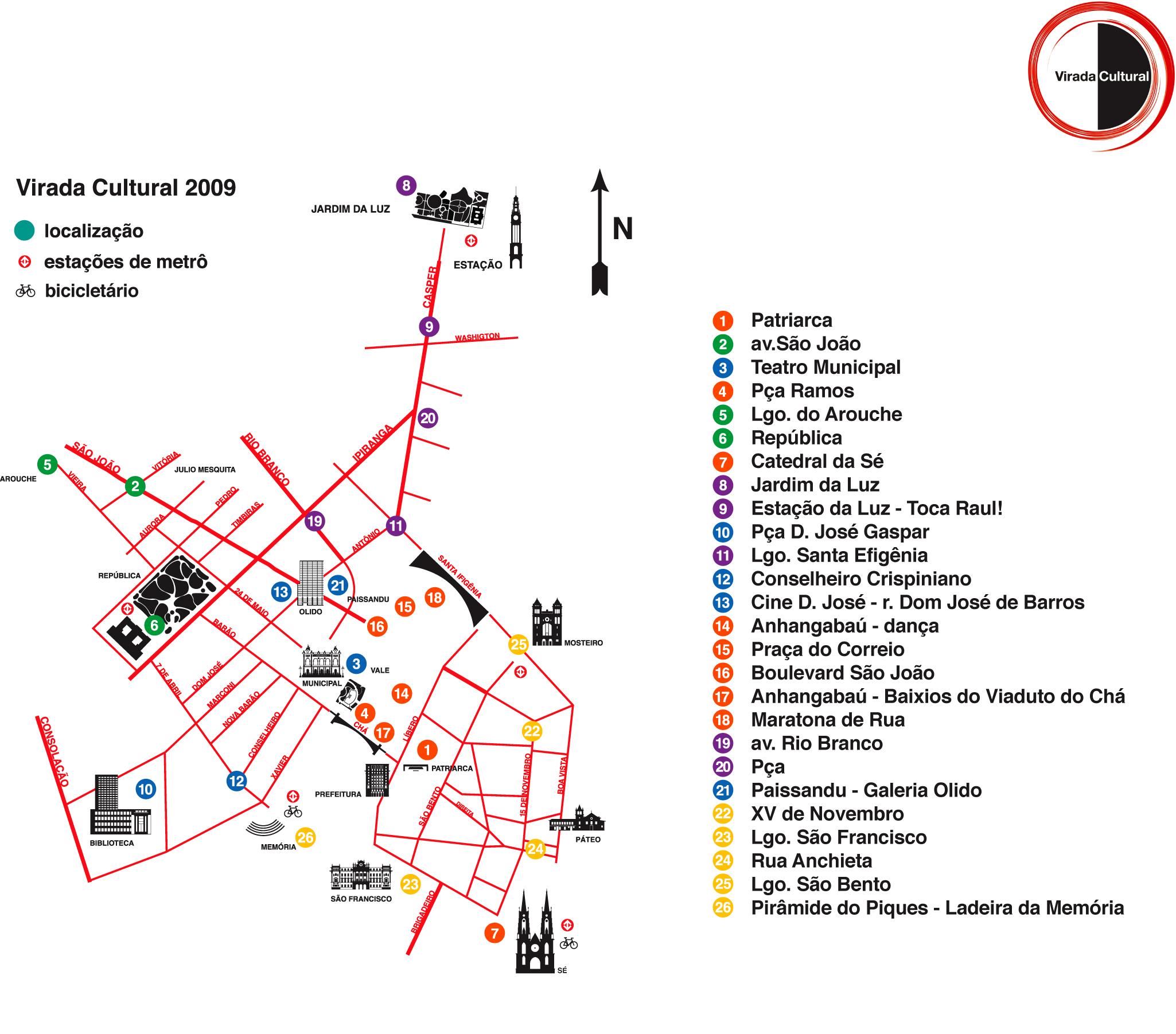 mapa virada cultural 2009