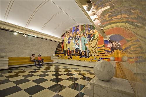 Estação Metrô de Moscou. Foto:farflungphotos, Flickr