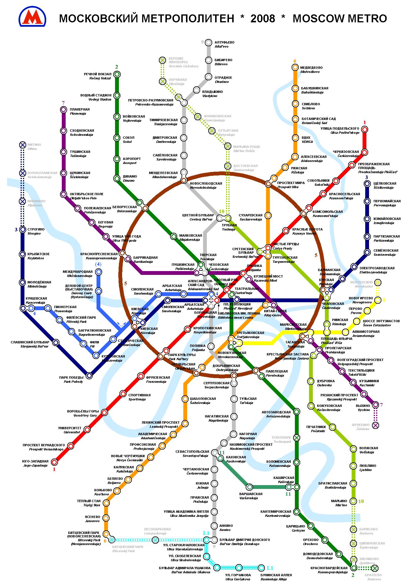 Mapa do Metro de Moscou