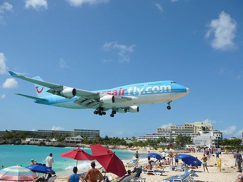 Maho Beach, em St. Maarten