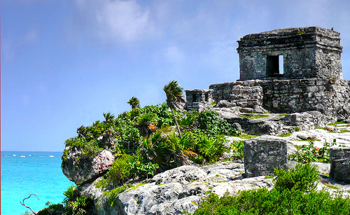 Ruinas de Tulum, em Cancun. Foto: Flickr, Lee Otis