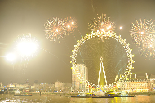 Reveillon em Londres. Foto: T@H!R - , Flickr