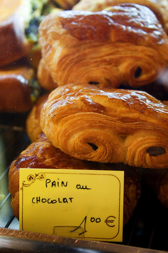 Vai um Pan au chocolat. Foto: roboppy, Flickr
