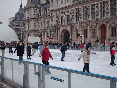 Patinação no gelo Hotel de Ville