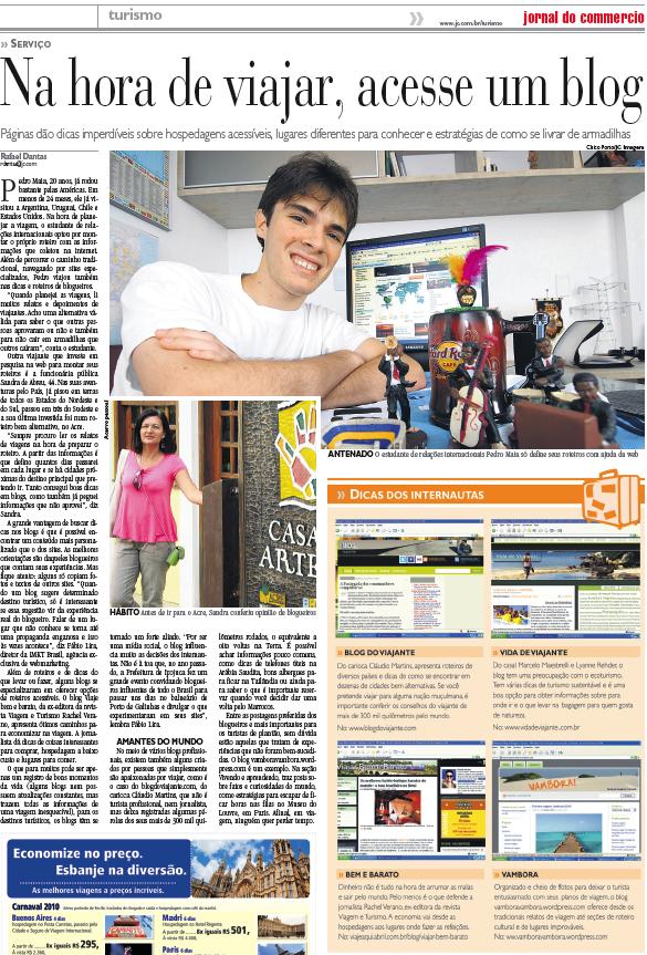 Próxima viagem: Aniversário do Vambora e matéria no Jornal do Commercio