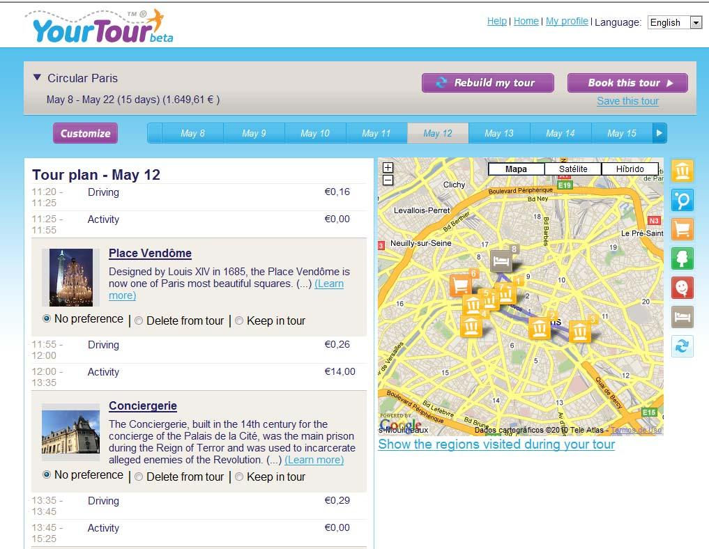 your tour frança
