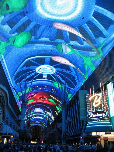 Fremont Experience, um dos muitos shows em Las Vegas de graça