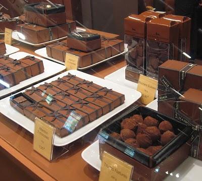 Loja de chocolate em Paris