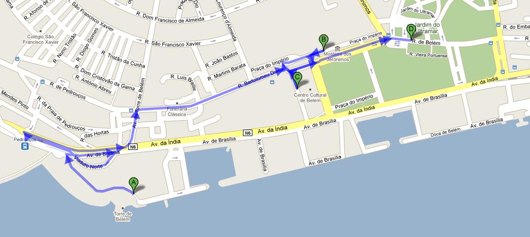 Mapa Roteiro de Lisboa