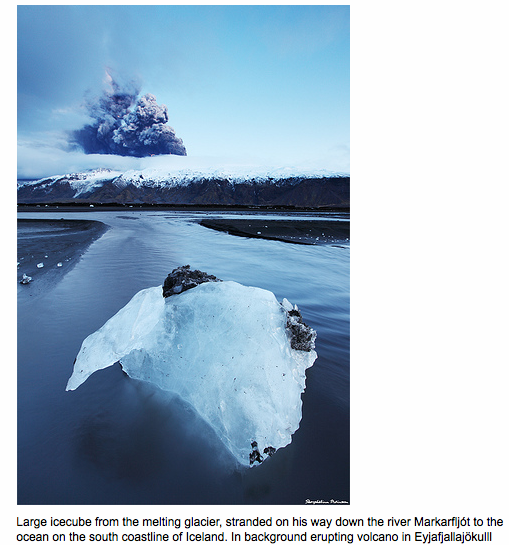Vulcão Eyjafjallajokull na Islândia