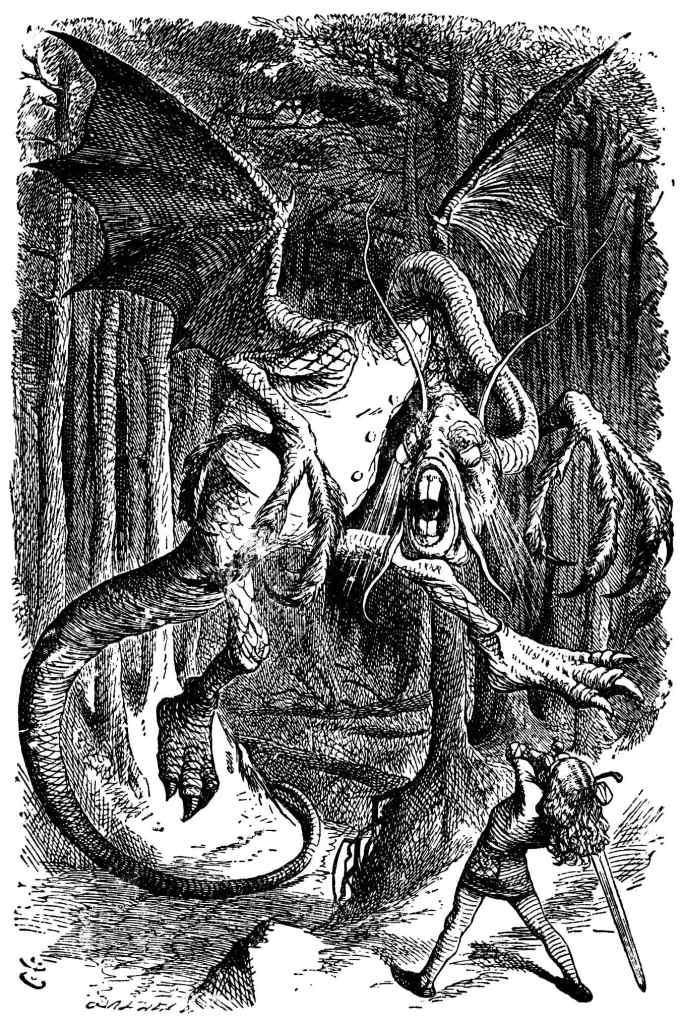 Ilustração Jabberwocky Alice no País nas Maravilhas