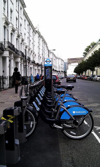 Barclays, aluguel de bicicletas em Londres