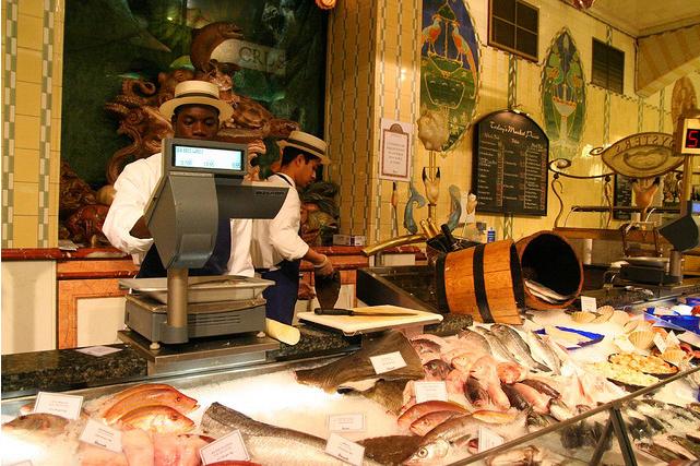 Mercado na Harrods, em Londres